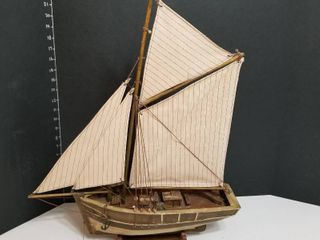 Sail boat on stand