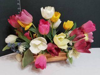 Copper tulip floral arrangement