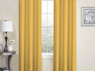 Ochre Microfiber Grommet Curtain Panels