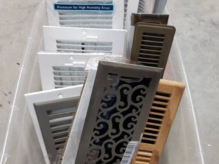 20 various sized floor wall Vents
