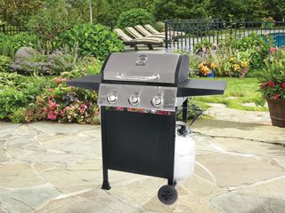 Blue Rhino Black And Silver porcelain Stainless Steel 3 burner Propane Grill