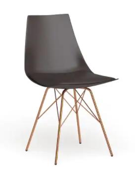 Black Carson Carrington Huskvarna Faux leather Mid century Bucket Chair with Gold Chrome Base Retail 99 99