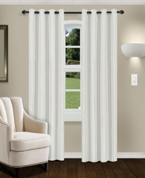 Impressions Swann Blackout Curtain Panel Set of 2 with Grommet Header