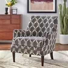 lifestorey Reymon Accent Chair Charcoal