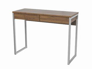 Porch   Den Skylar 2 Drawer Desk Walnut