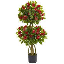 Red 4ft Double Bougainvillea Artificial Topiary Tree Retail 119 99