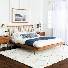Blaney Solid Pine Wood Queen Spindle Bed