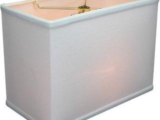 Rectangular Drum lampshade White linen