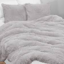 Boho Faux Fur 3pc Queen Bedding Set