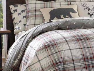 Eddie Bauer Alder Plaid Twin Comforter Set Retail 89 98