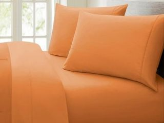 Porch   Den Jess 1000 Thread Count Cotton Deep Pocket Twin Sheet Set Spice