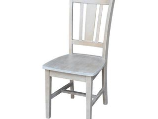 International Concepts San Remo Splatback Chair Washed Gray Taupe Retail 141 49
