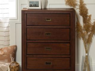 Carson Carrington Modern 4 Drawer Walnut Storage Chest Retail 241 49