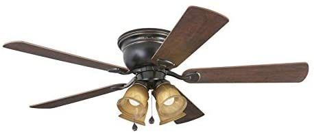 Harbor Breeze Centreville 52in Oil Rubbed Bronze led Ceiling Fan With light