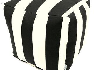 Vertical Stripe Pouf Cube Pillow