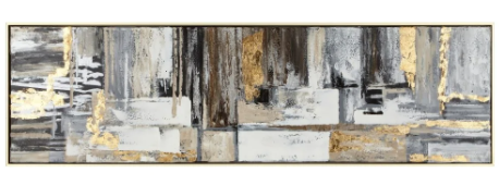 Exquisite Grey Gold Framed Oil Painting