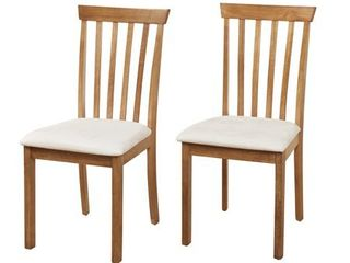 Simple living Benton Slat back Dining Chairs  Set of 2 Oak Retail  113 99