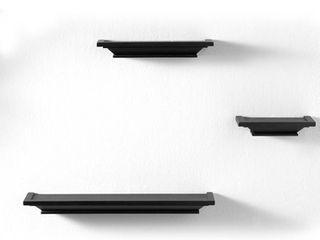 InPlace Black Wall ledge Set  Set of 3