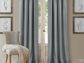 Elrene Home Fashions Cachet Faux Silk 3 in 1 Curtain Panel
