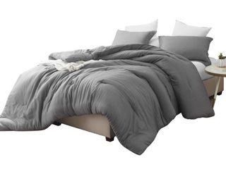 Byourbed King Cavern Gray King Sham  Croscutt   Cavern Gray   Oversized Comforter   100  Cotton Bedding Retail 119 99
