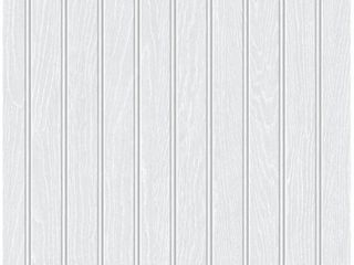 NextWall Beadboard Faux Peel and Stick Removable Wallpaper 20 5 in  W x 18 ft  l