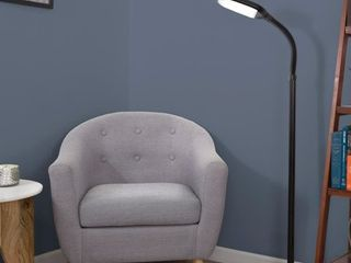 Windsor Home Black lED Natural Full Spectrum Sunlight Therapy Reading Floor lamp with Dimmer Switch
