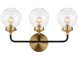 Jonathan Y Caleb 3 light Brass Wall Sconce  Black Brass Retail 104 99