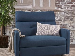 Navy Blue 2 Seater Recliner Club Chair