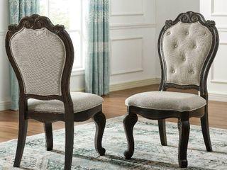 Gracewood Hollow Raymond Upholstered Dining Arm Chair Set of 2 Dark Molasses Retail 393 99