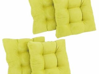 Blazing Needles 19in Square Microsuede Chair Cushion  Set of 4