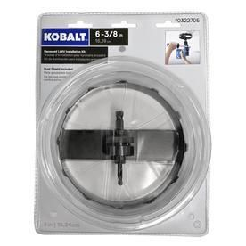 Kobalt Carbide Grit Hole Saw Kit RETAIl  19 98