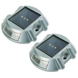 Portfolio 4X Brighter  4 8 lumens  2 light Gray Solar lED Step light Kit RETAIl  29 98