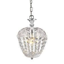 Home Accessories Inc Adelaide Silver Chrome Traditional Clear Glass Jar Pendant light RETAIl  48 14