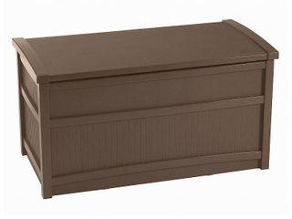 Resin Deck Box Brown 50 Gallon   Brown   Suncast