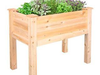 Greenes Fence 32  l x 16  W x 31  H Elevated Cedar Garden Bed RETAIl  99 99