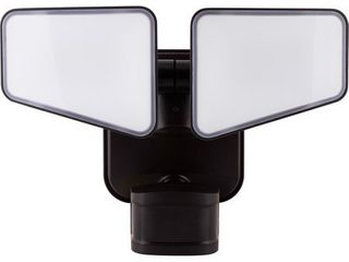 GE Enbrighten Motion lED Security   Accent light  2 Head  Selectable light Output  Bronze  40768 RETAIl  84 98