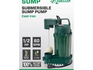 Zoeller Submersible Sump Pump 1075 0001 1 2 Hp 60 Gpm RETAIl  194