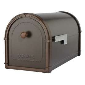 Architectural Mailboxes Bellevue large Metal Oil Rubbed Bronze Post Mount Mailbox RETAIl  59 98