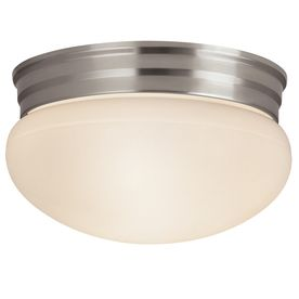 Project Source 9 25 in W Brushed Nickel Ceiling Flush Mount RETAIl  19 98