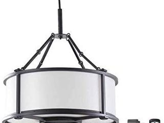 Allen   Roth Black Modern contemporary Battery operated Cage led Chandelier REATAIl  90 00