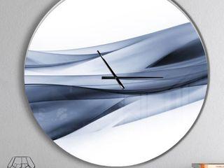 Design art Glittering light Blue Wall Clock