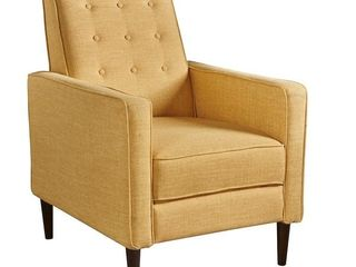 Christopher Knight Home Mervynn Mid Century Fabric Recliner Club Chair in Yellow