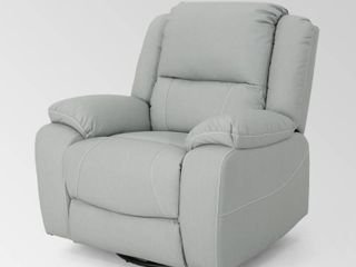 light Grey Malic Tufted Faux leather Swivel Recliner by Christopher Knight Home Retail  493 49