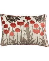 Blush Rodeo Home Camelia Floral Cut Velvet lumbar Pillow