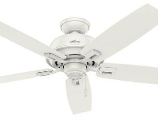 Hunter 52in Donegan Fresh White Ceiling Fan with Pull Chain