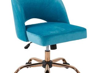 OSP Home Furnishings lula Office Chair with Rose Gold Base Retail 241 49