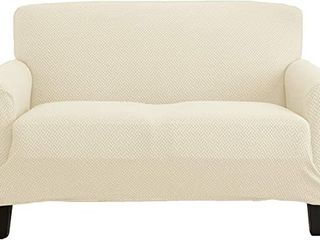 Great Bay Home Knitted Jacquard Stretch love Seat Slipcover