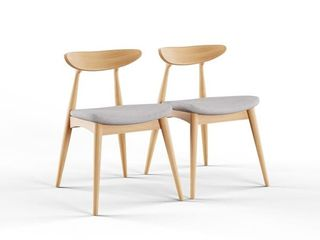 Carson Carrington lund Mid century Dining Chair  Set of 2  Retail 147 49