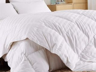 Home Sweet Home luxurious All Season Down Alternative Hypoallergenic Duvet Box Stitched White Comforter  Full Queen