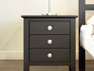 Copper Grove Petun 3 drawer End Table  Nightstand